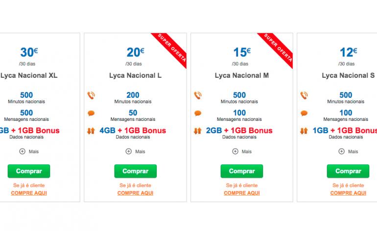 Lycamobile: Compras no site valem dados extra