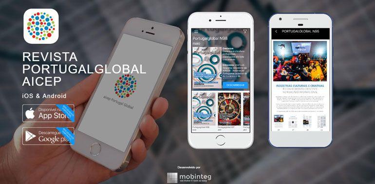 Revista Portugalglobal da AICEP disponível em app da mobinteg
