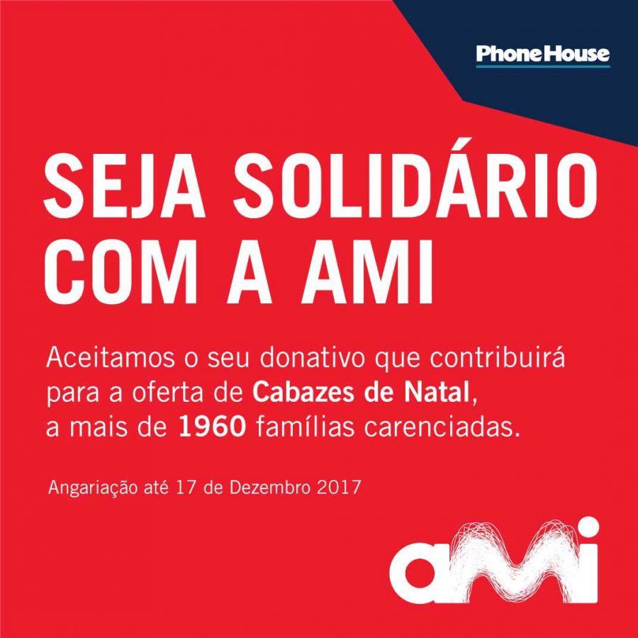 Phone House e AMI revelam campanha solidária Cabazes de Natal