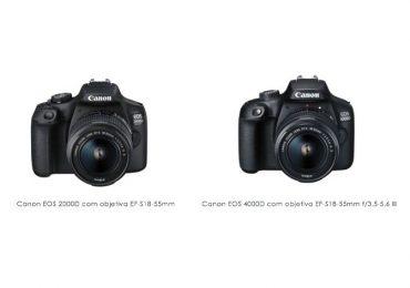 EOS 2000D e EOS 4000D: As novas câmaras DSLR da Canon