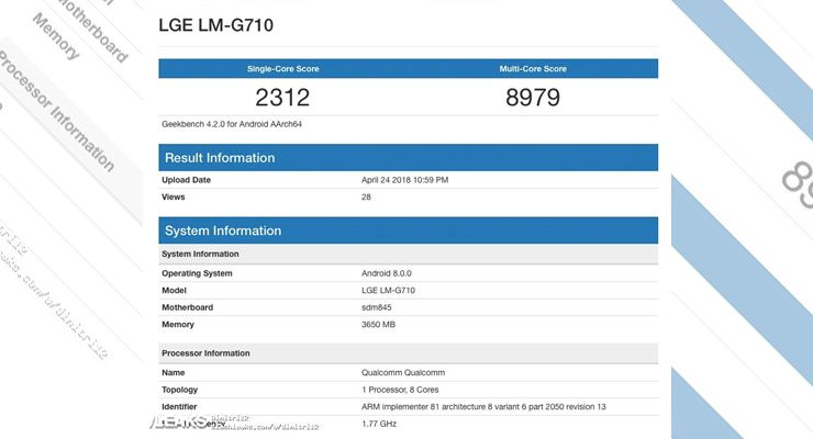 LG G7 ThinQ benchmark