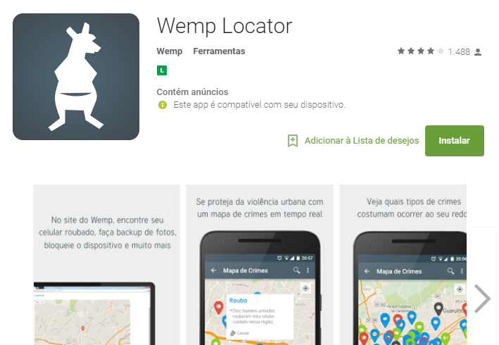 Aplicativo Wemp Locator