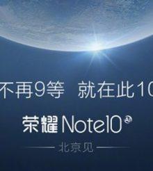 Honor Note 10 dá nas vistas em teste de performance 6GB de RAM