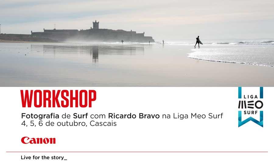 Workshop de Fotografia de Surf com a Canon Portugal e Ricardo Bravo