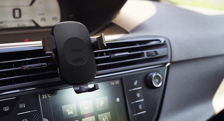 Puro lança suporte de carro para carregamento wireless