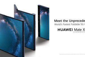 Huawei Mate X, um smartphone dobrável 5G, apresentado no MWC 2019