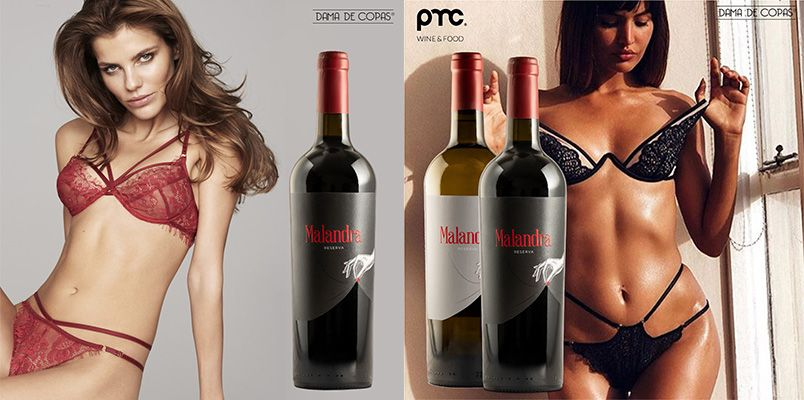 Vinhos Malandra e Lingerie Dama de Copas com campanha até final de fevereiro