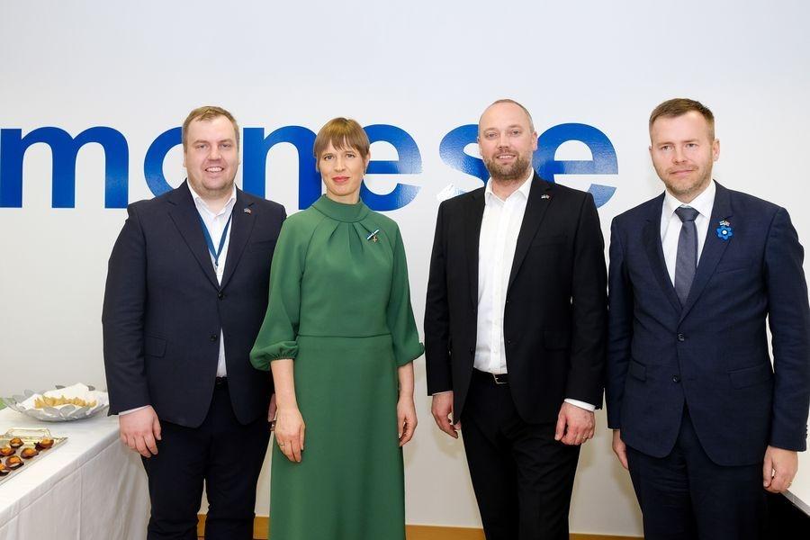 Presidente da República da Estónia visita escritório da Monese em Lisboa