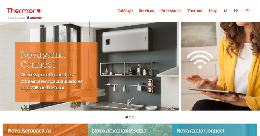 Thermor Portugal com novo website