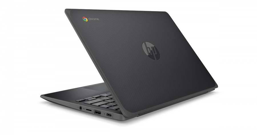 HP Chromebook 11 G8 EE Pebble Gray Rear Left