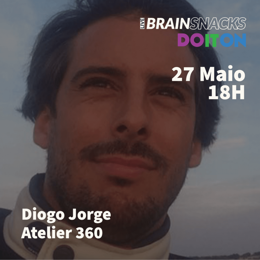 Diogo Jorge, Atelier 360 - orador do live BRAIN SNACKS by Do It On