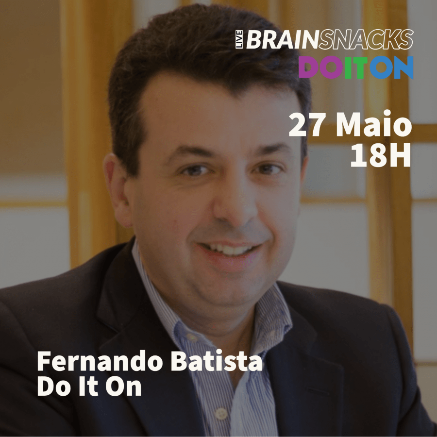Fernando Batista, Do It On - moderador do live BRAIN SNACKS by Do It On