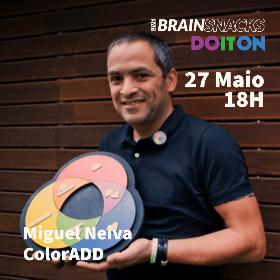 Miguel Neiva, ColorADD - orador do live BRAIN SNACKS by Do It On