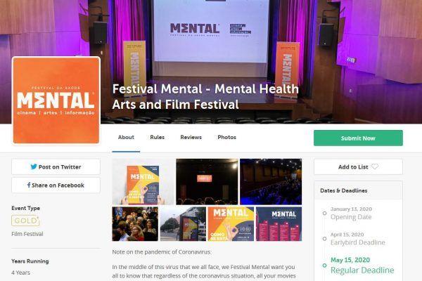 """Festival Mental 2020: """"Open Call"""" já recebeu mais de 80 submissões"""