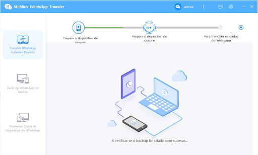 Mobitrix: segundo passo para transferência de arquivos WhatsApp