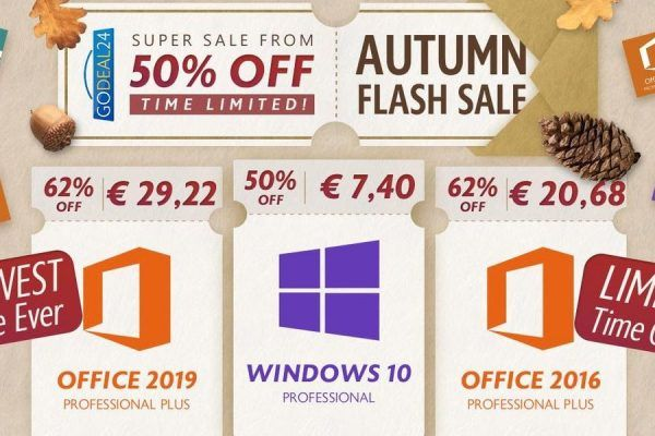 Time-limit Sale: Get Windows 10 Pro Keys a €7.4 e Office a €29,22