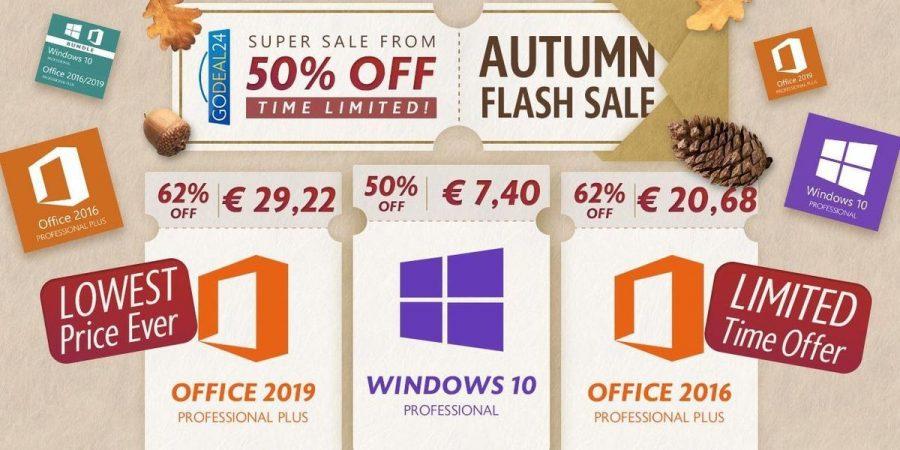 Get Windows 10 Pro Keys a €7.4 e Office a €29,22