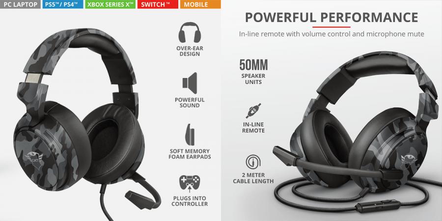 Headphones gaming Trust GXT 433 Pylo