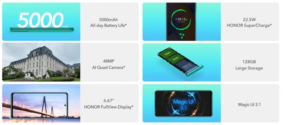 Huawei Honor 10X Lite especificações