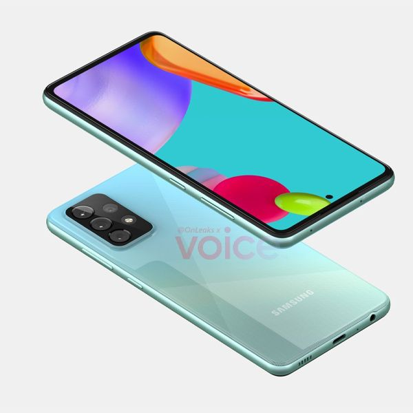 GalaxyA52 2 2021, Android 11, design, Galaxy A52, gama-média, Imagens, renders, Samsung, Samsung Galaxy A52, smartphone 5G, smartphone Android