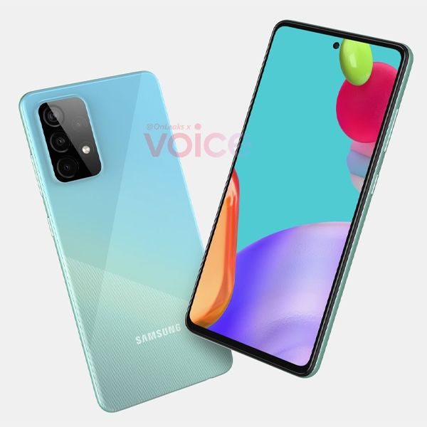 GalaxyA52 3 2021, Android 11, design, Galaxy A52, gama-média, Imagens, renders, Samsung, Samsung Galaxy A52, smartphone 5G, smartphone Android