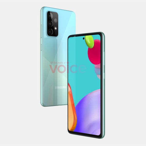 GalaxyA52 4 2021, Android 11, design, Galaxy A52, gama-média, Imagens, renders, Samsung, Samsung Galaxy A52, smartphone 5G, smartphone Android