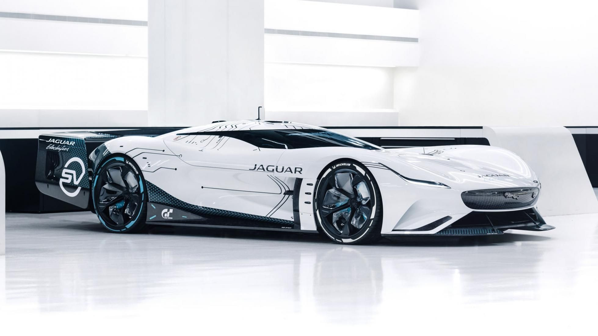 Jaguar Vision GT SV 12 carro elétrico, Gran Turismo, Gran Turismo Sport, GT, Jaguar, Jaguar Vision GT SV