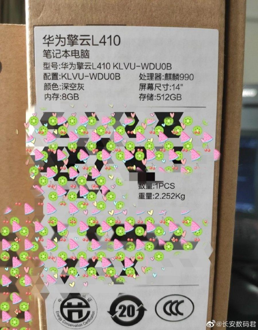 Huawei Portátil Kirin Processador