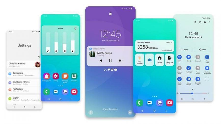 design na Samsung One UI 3