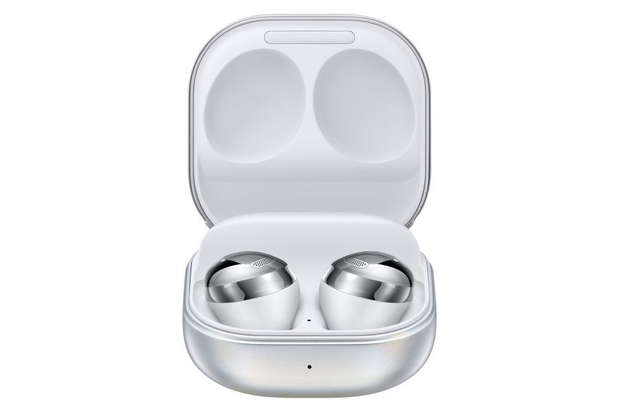 006 galaxybudspro phantom silver case front open combination 1 auriculares, Samsung, Samsung Galaxy Buds Pro, Wireless earbuds