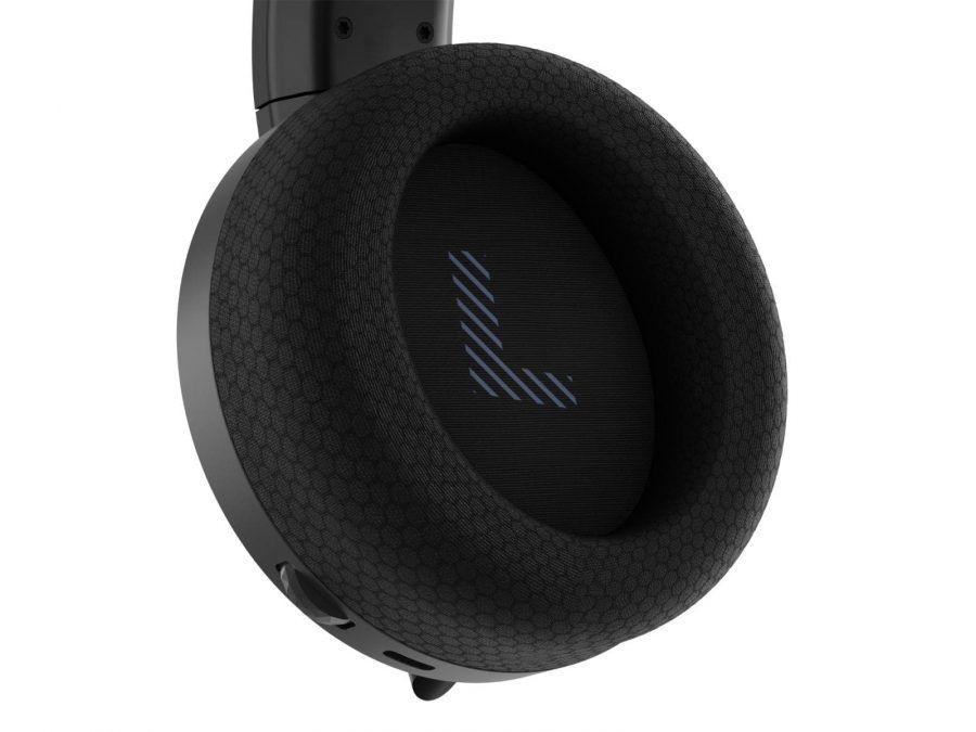 07 Lenovo Legion H600 Wireless Gaming Headset Closeup Earcup acessórios, auscultadores sem fios, CES 2021, gaming, headphones, Legion, Legion H600, lenovo, Notícias, periféricos, Portugal