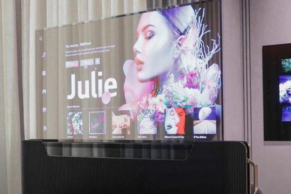 LG televisão OLED transparente