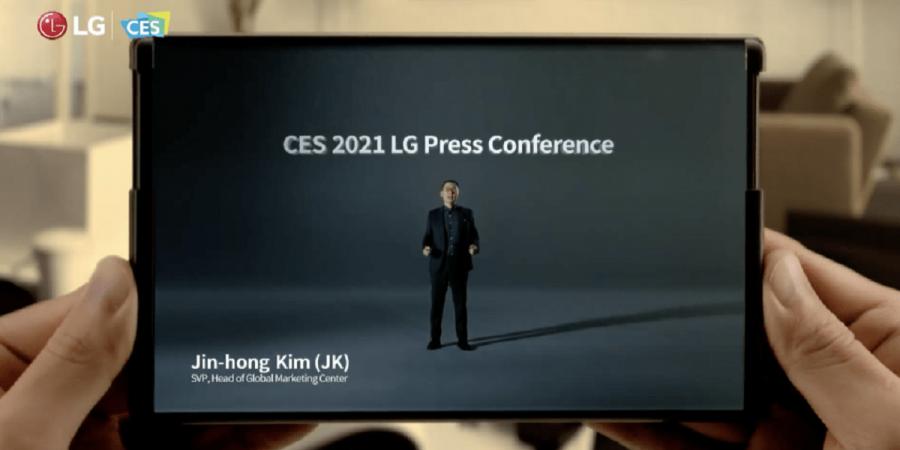 LG Smartphone Ecrã Dobrável CES 2021