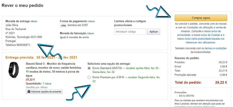 AmazonCompra5 Amazon em Portugal, amazon es, amazon espanha, amazon portugal, como comprar na amazon, comprar na Amazon, compras online, Portugal, tutorial