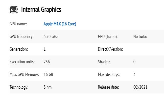 Apple M1X GPU apple, Apple M1X, leak, processador