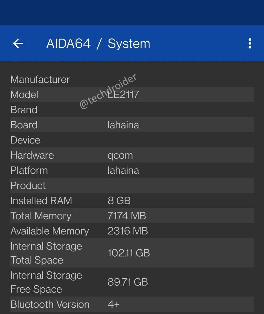 EukT KjVcAE1mem AIDA64, mobile, oneplus, OnePlus 9