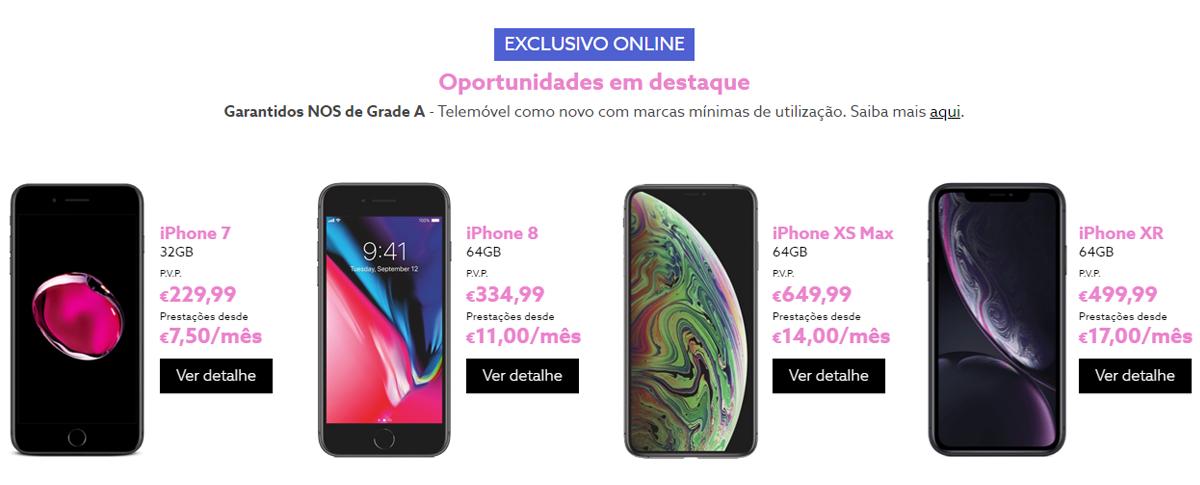 NOS smartphones recondicionados iPhone