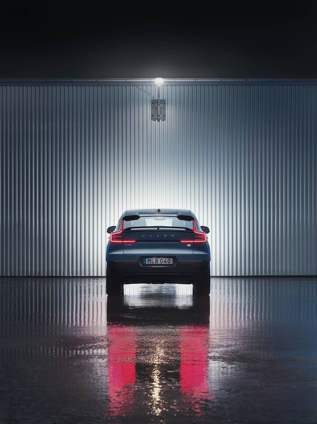 10 Volvo C40Recharge rear night 1 carro elétrico, Crossover, mobilidade elétrica, SUV, Volvo, Volvo C40 Recharge