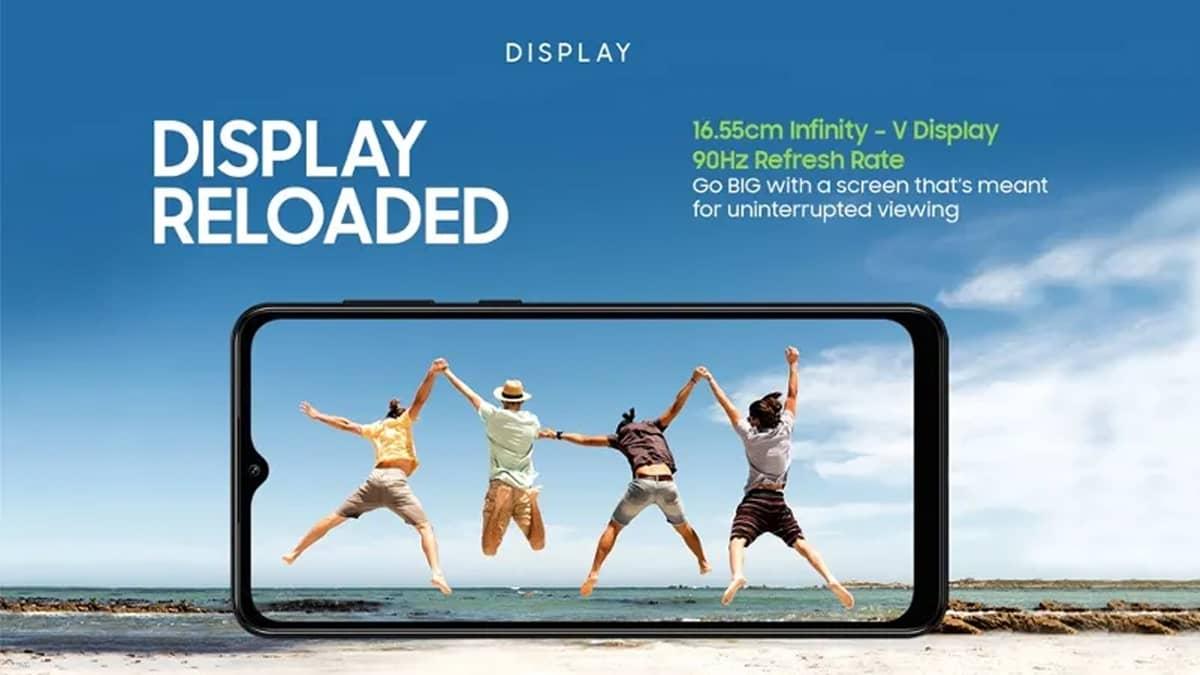 Samsung Galaxy M12 ecrã