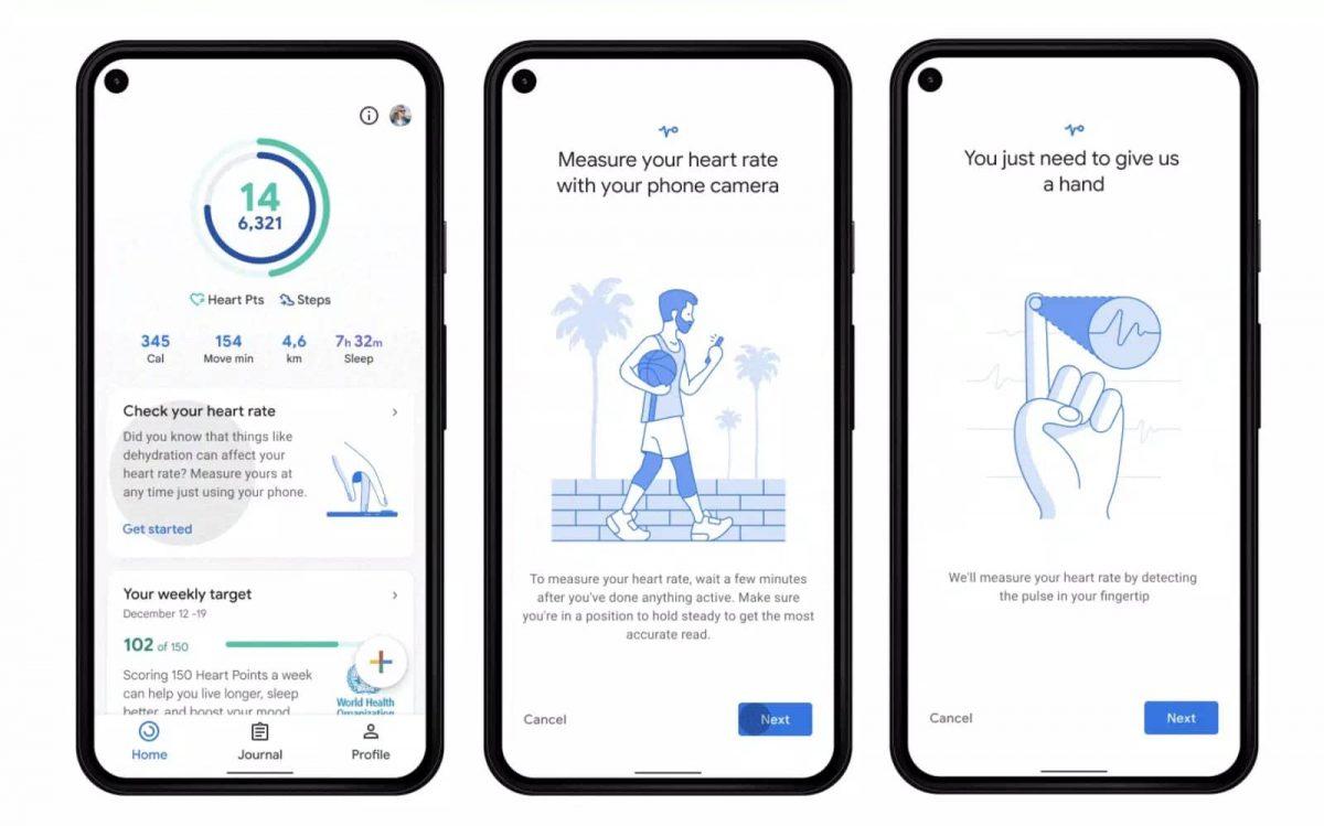 Google Fit câmara do smartphone batimentos cardíacos