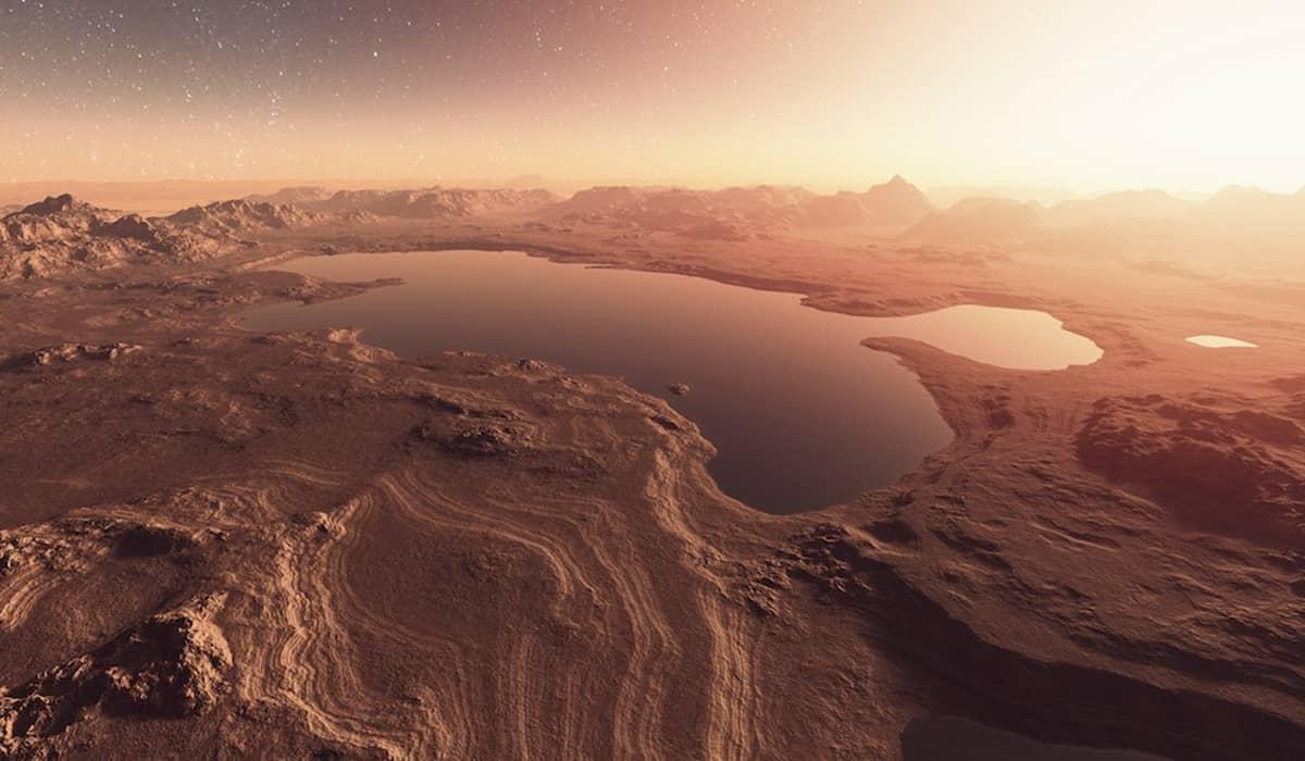 Marte água tempestades de poeira