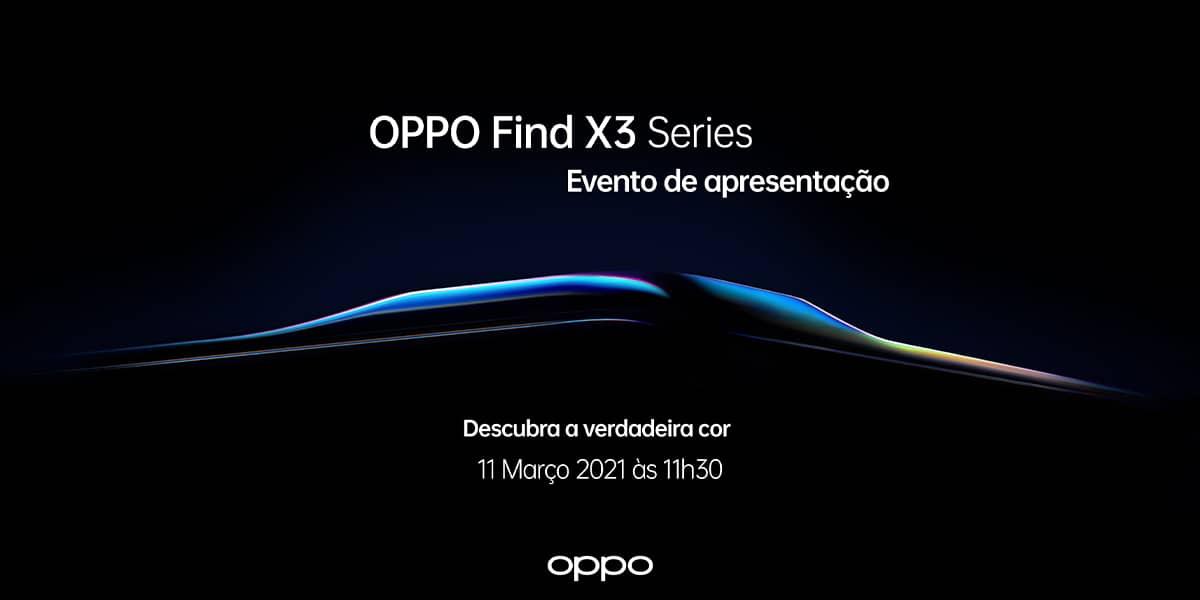 OPPO Find X3 Pro evento de apresentação