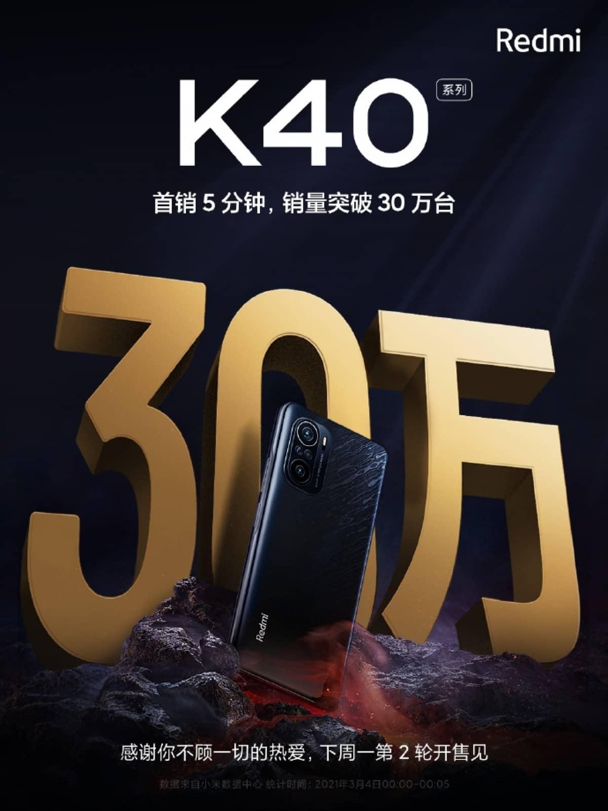 Xiaomi Redmi K40 Pro vendas na china