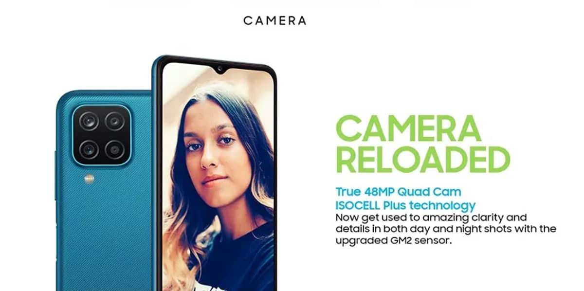 Samsung Galaxy M12 câmara