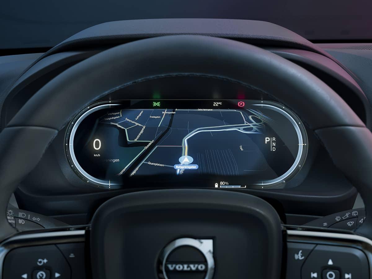 Volvo C40Recharge Steering and GoogleMaps carro elétrico, Crossover, mobilidade elétrica, SUV, Volvo, Volvo C40 Recharge