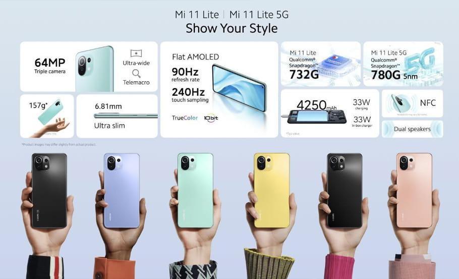 Xiaomi Mi 11 Lite detalhes