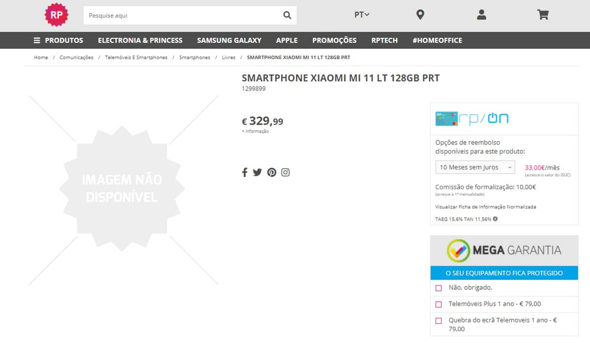 Xiaomi Mi 11 Lite Portugal
