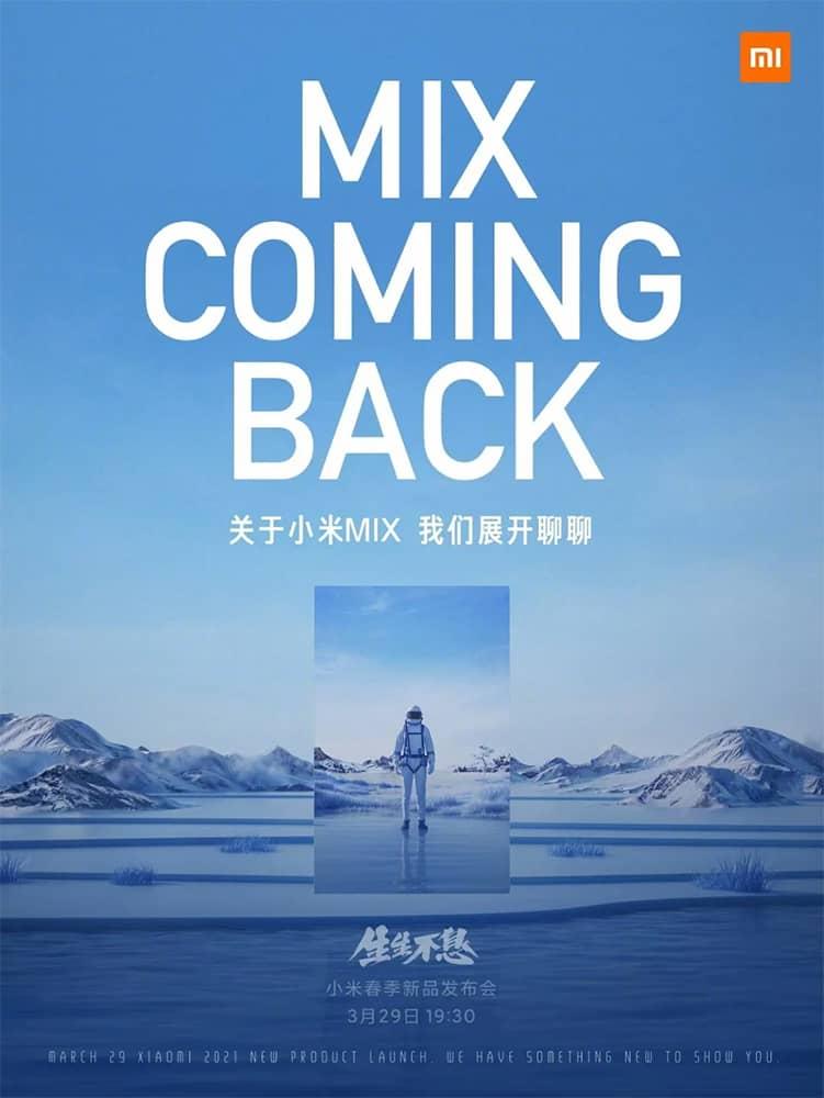 Xiaomi Mi MIX smartphone dobrável confirmado
