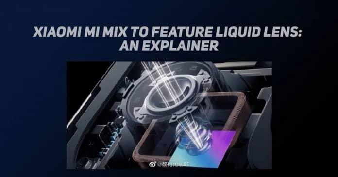 Xiaomi Mi MIX lente líquida