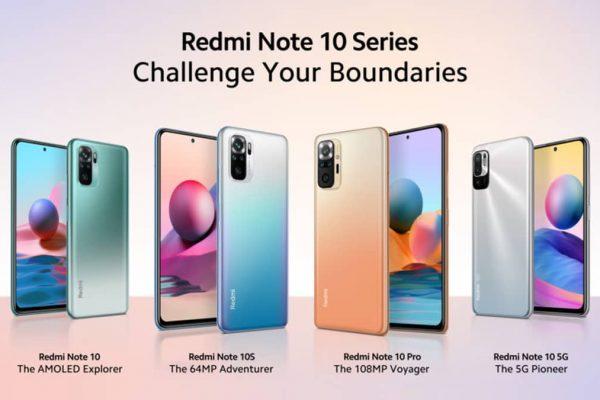 Xiaomi Redmi Note 10 novos smartphones
